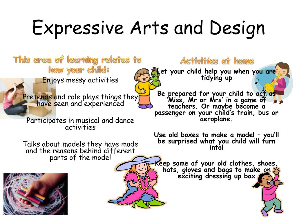 expressive arts early stage foundation parent guide activities ppt presentation powerpoint