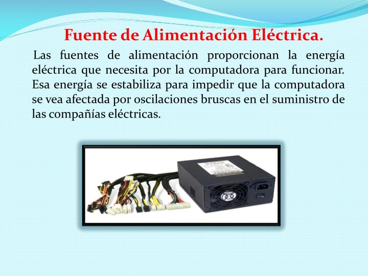 Fuente de Alimentación Eléctrica.