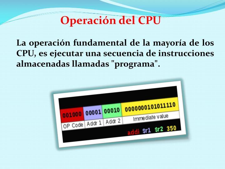Operación del CPU
