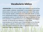 vocabulario b blico