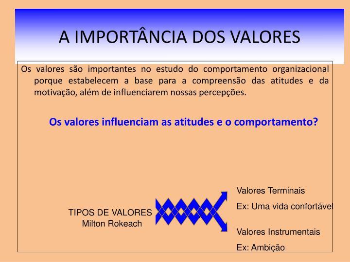 A IMPORTÂNCIA DOS VALORES