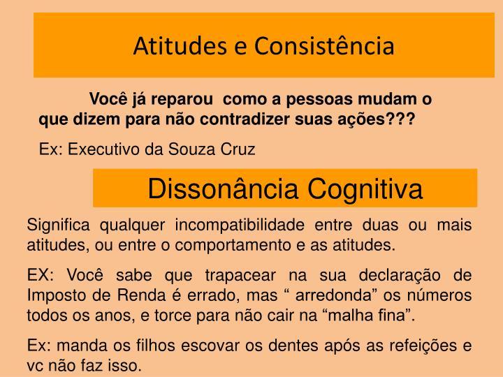 Atitudes e Consistência