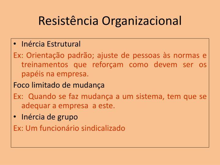 Resistência Organizacional