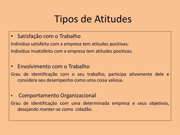 Tipos de Atitudes