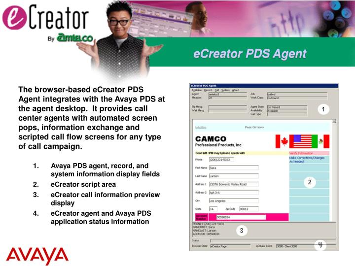 eCreator PDS Agent