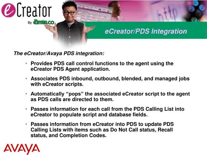 eCreator/PDS Integration