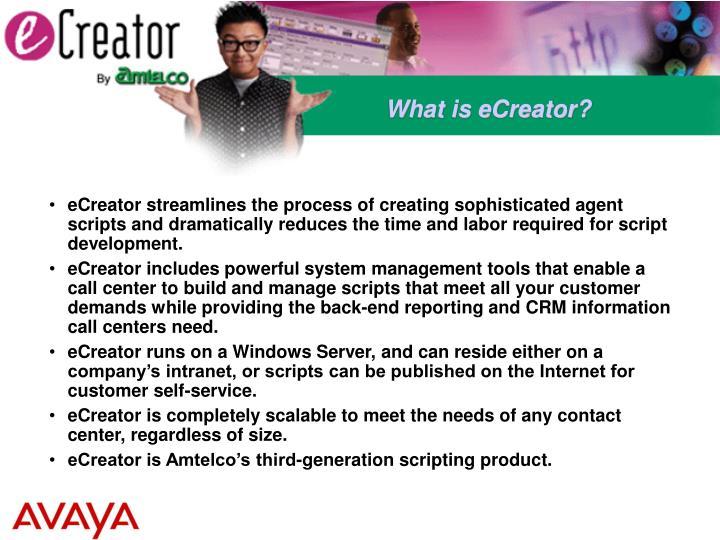 What is eCreator?