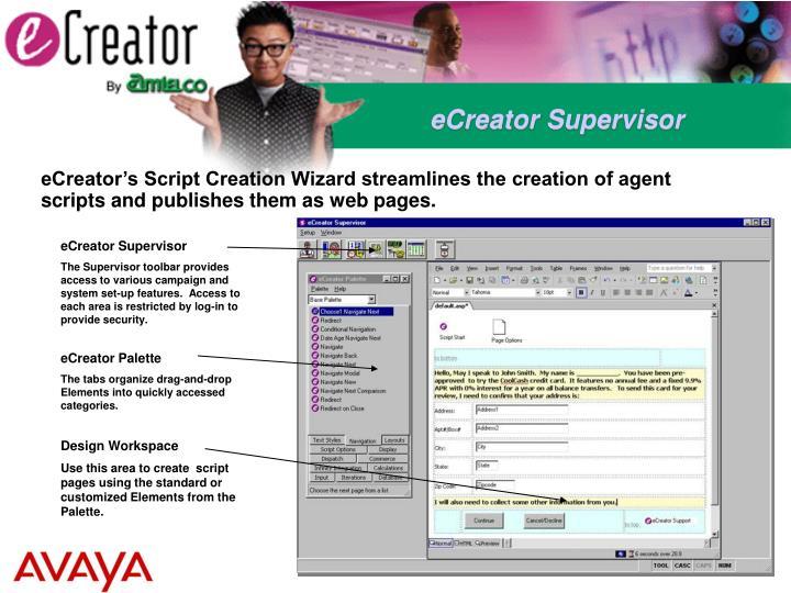 eCreator Supervisor