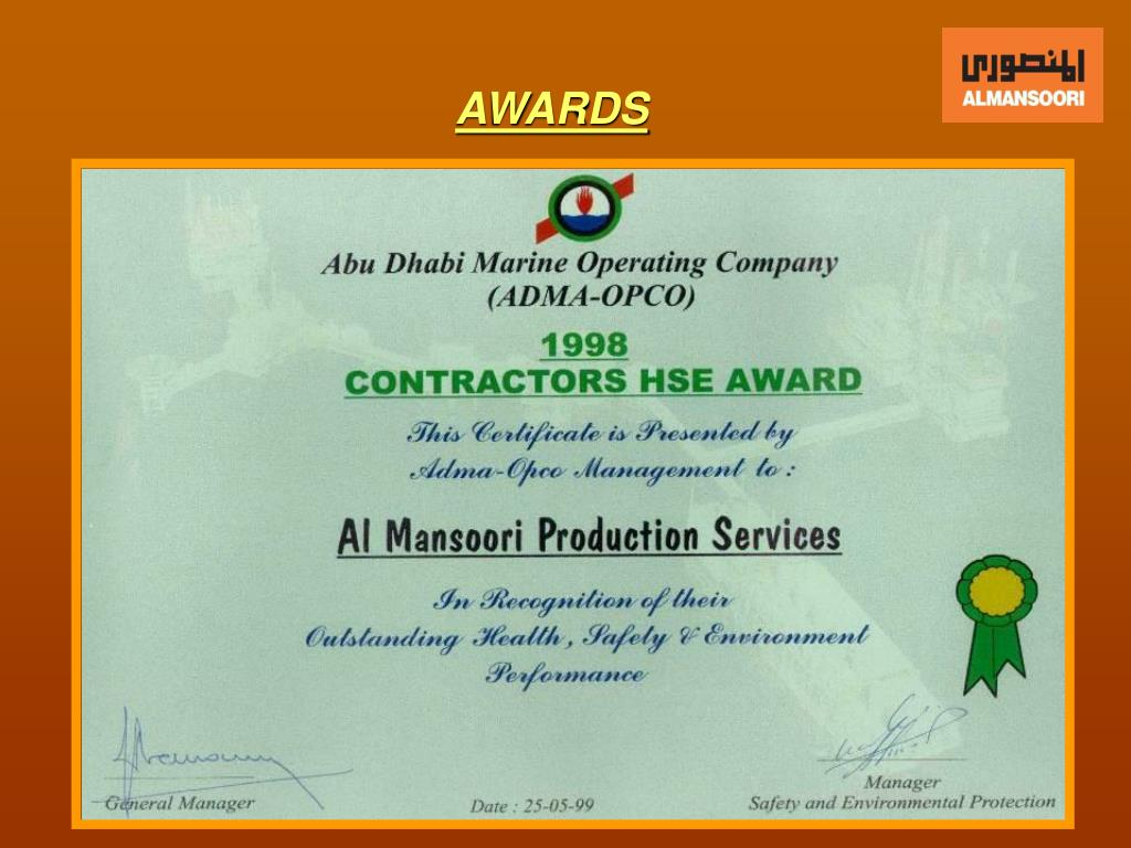 PPT - ALMANSOORI PRODUCTION SERVICES PowerPoint Presentation