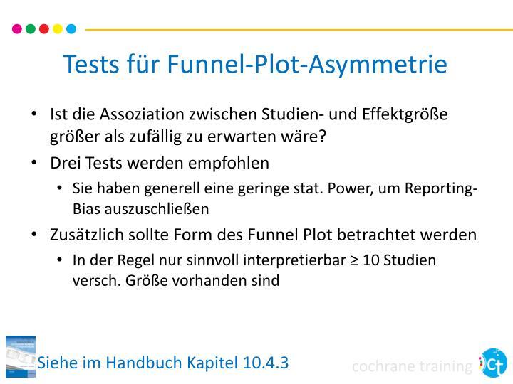 Tests für Funnel-Plot-Asymmetrie