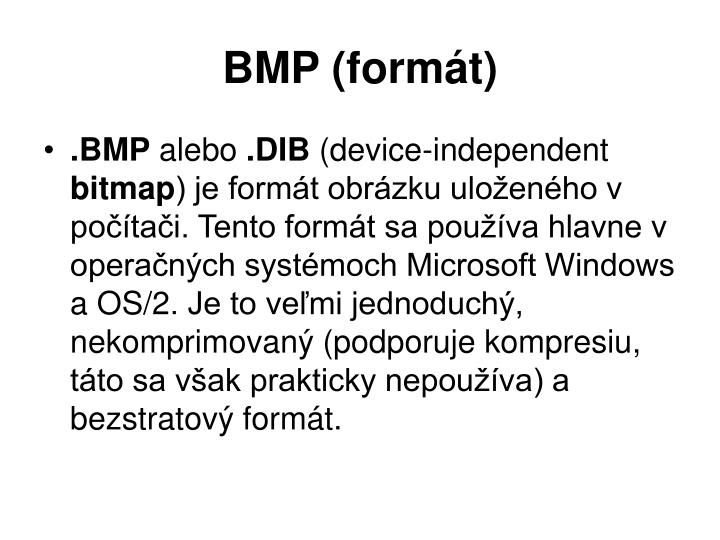 Bmp form t