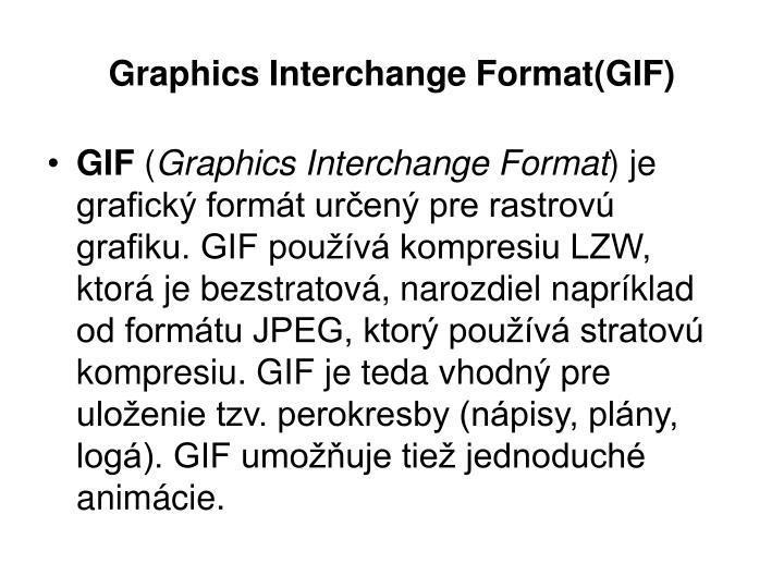 Graphics Interchange Format(GIF)