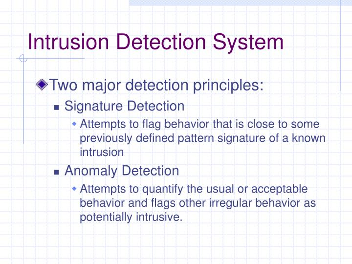 anomaly based intrusion detection system pdf