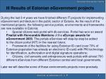 iii results of estonian egovernment projects