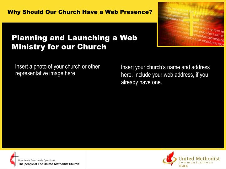 Planning and launching a web ministry for our church