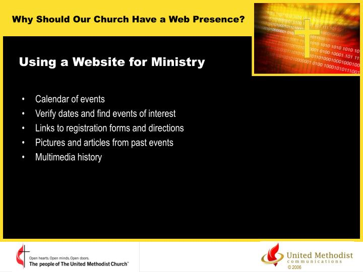 Using a Website for Ministry