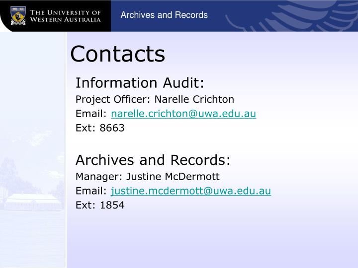 Archives and Records