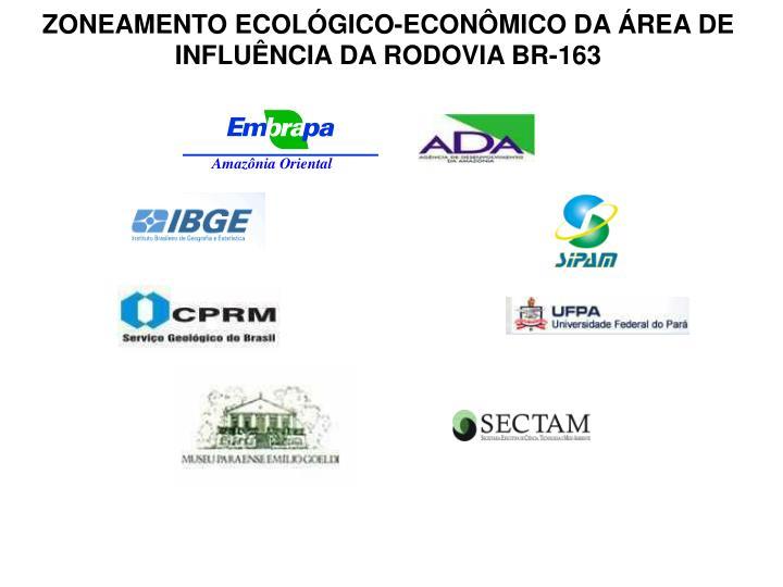 ZONEAMENTO ECOLÓGICO-ECONÔMICO DA ÁREA DE INFLUÊNCIA DA RODOVIA BR-163