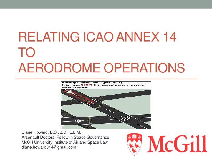 relating icao annex 14 to aerodrome operations n.