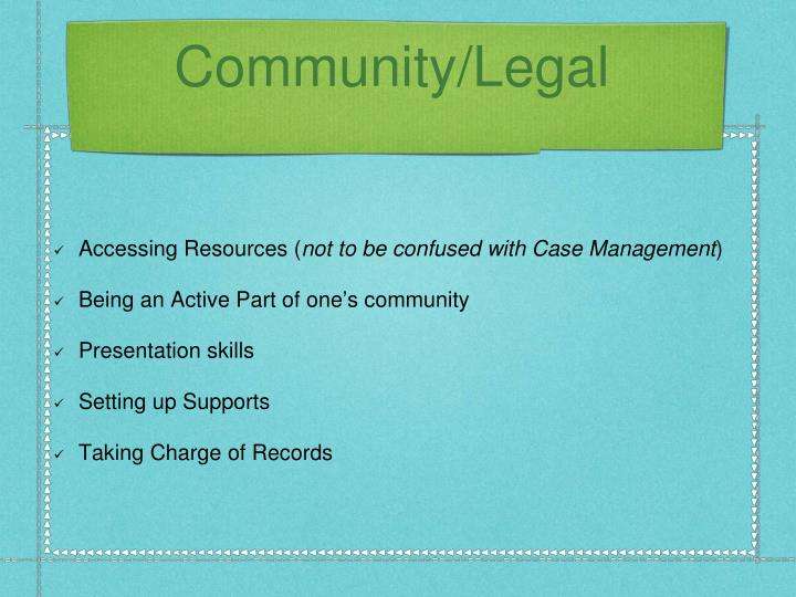 Community/Legal