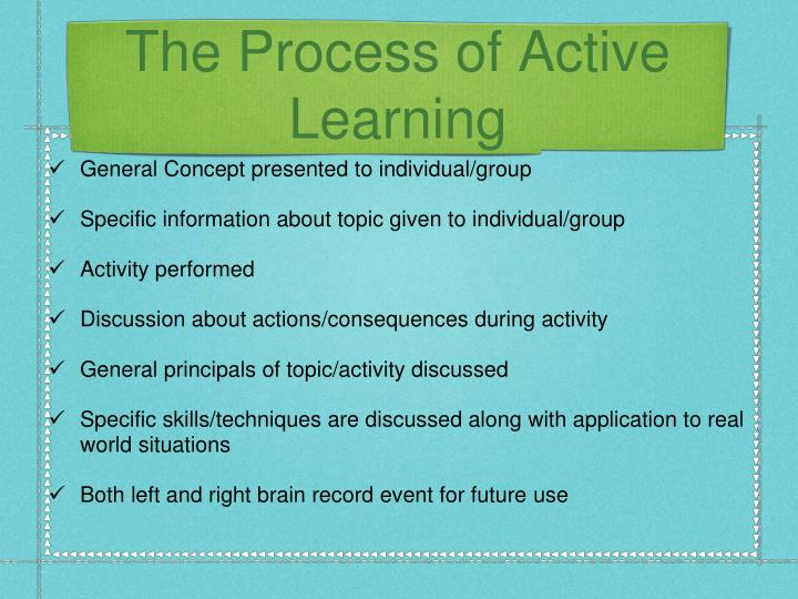 The Process of Active Learning