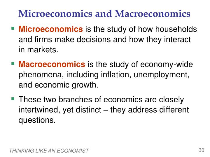 how macroeconomics is different from microeconomics essay Microeconomics versus macroeconomics economics for the global manager bus610-1101c-02 abstract i want to thank everyone for joining me today to review the effects of microeconomics and macroeconomics in conjunction with the healthcare industry.