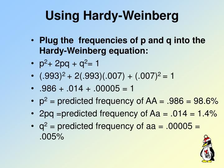 Using Hardy-Weinberg