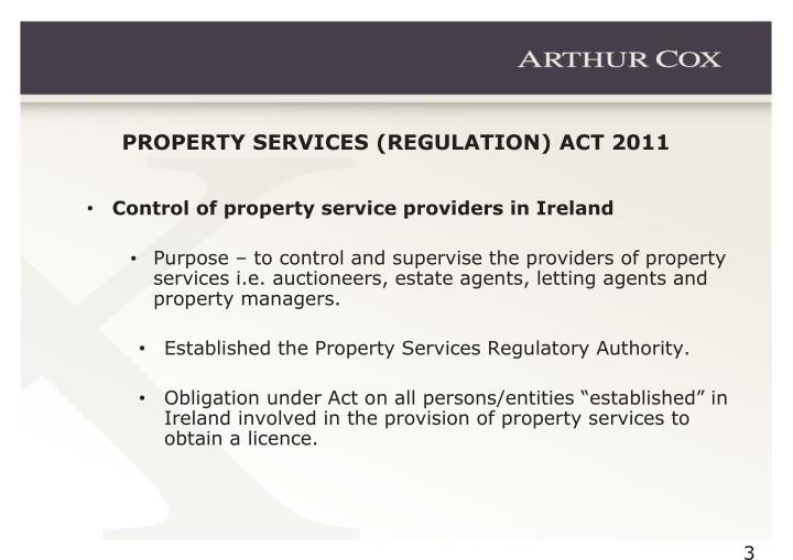 PROPERTY SERVICES (REGULATION) ACT 2011