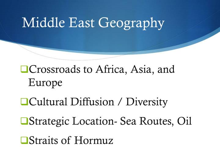 middle east geography n.