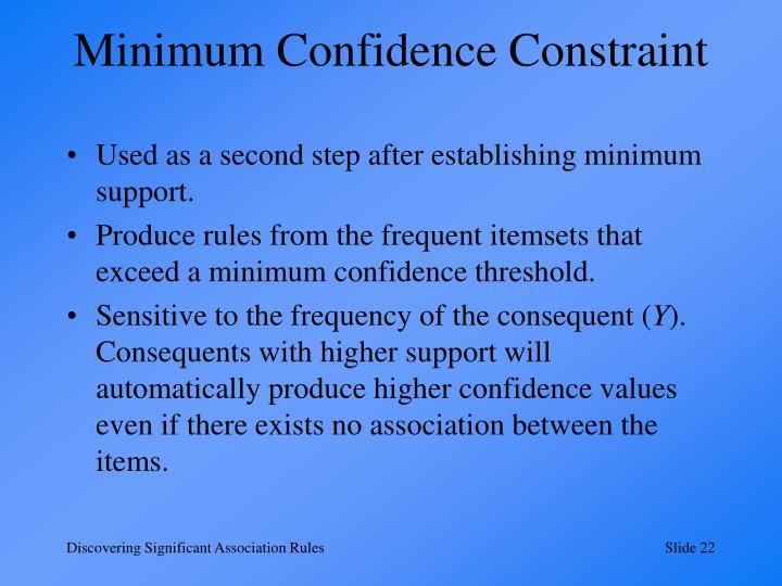 Minimum Confidence Constraint