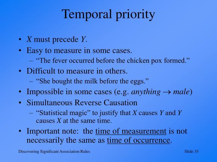 Temporal priority