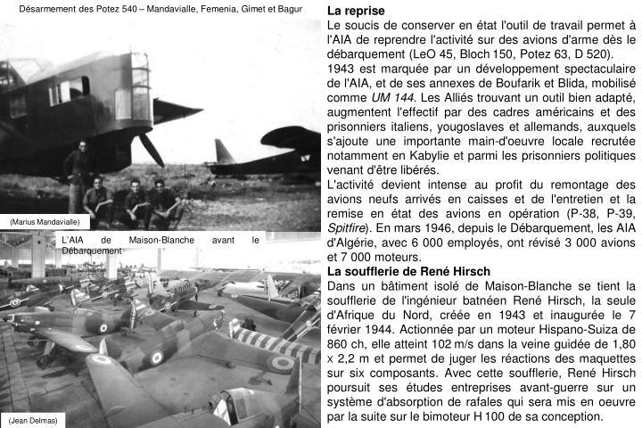 Désarmement des Potez 540 – Mandavialle, Femenia, Gimet et Bagur