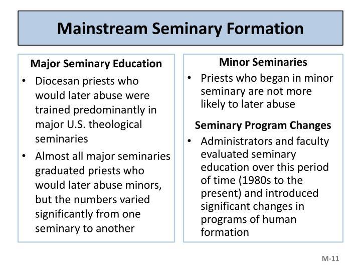 Mainstream Seminary Formation