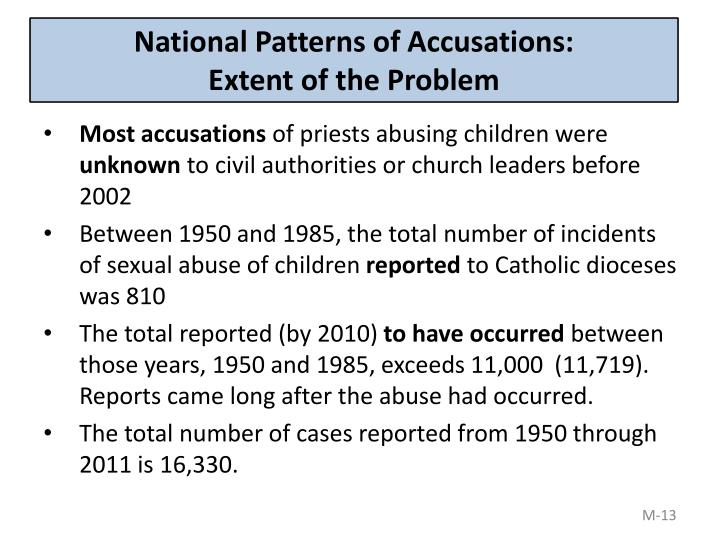 National Patterns of Accusations: