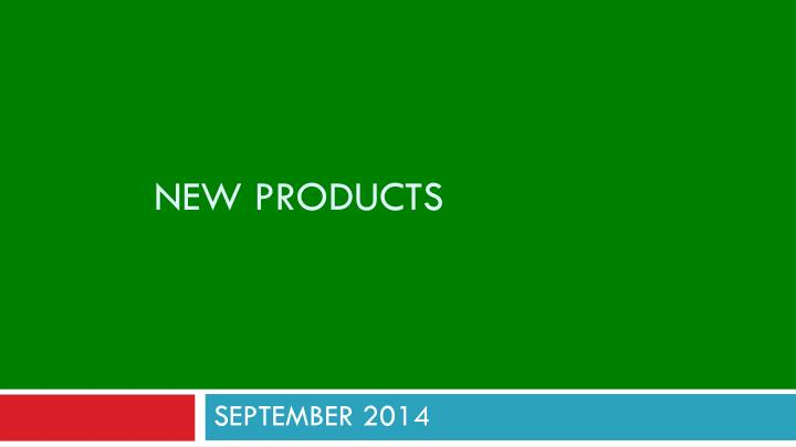 new products n.