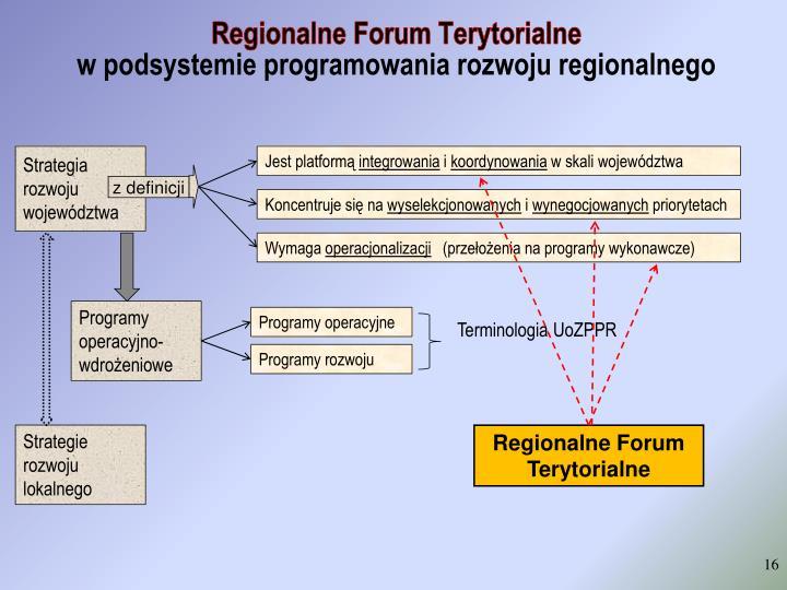 Regionalne Forum Terytorialne