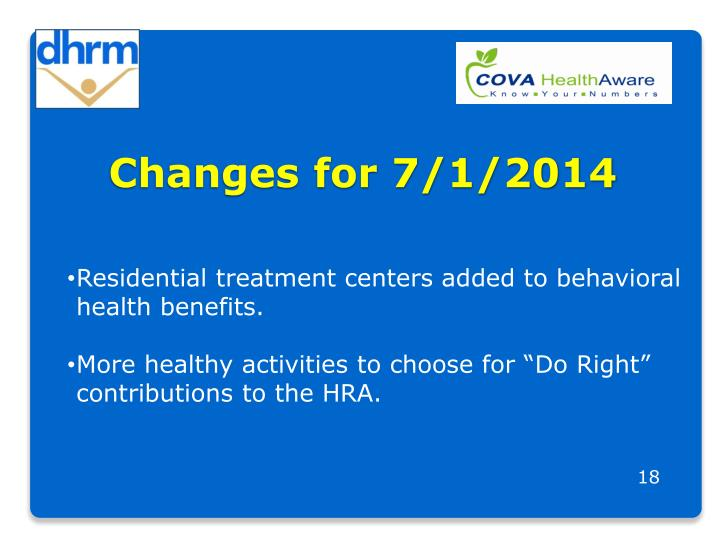 Changes for 7/1/2014