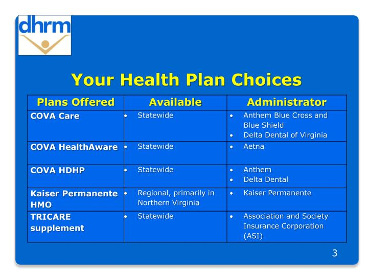 Your health plan choices