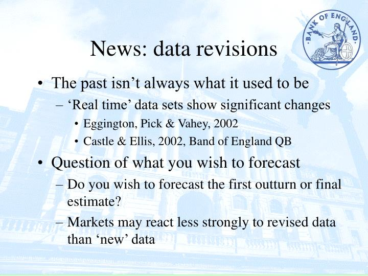 News: data revisions