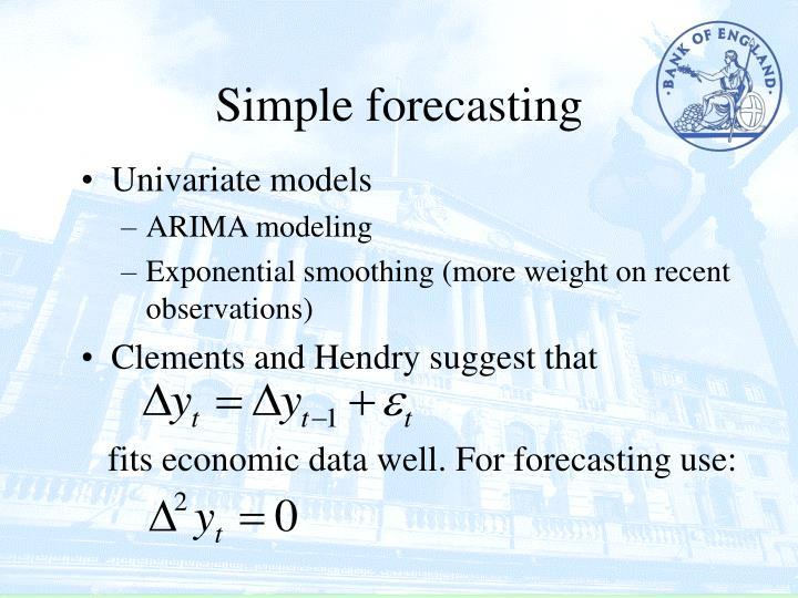 Simple forecasting