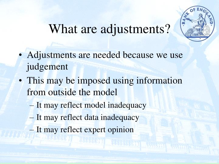 What are adjustments
