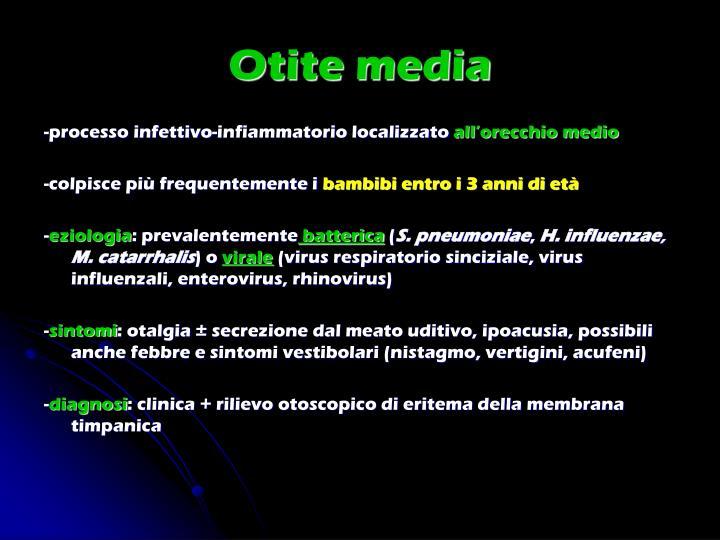 Otite media