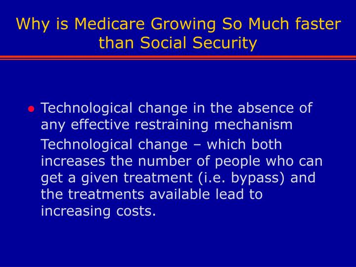Why is Medicare Growing So Much faster than Social Security
