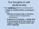 our thoughts on self doubt anxiety