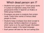 which dead person am i