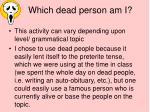 which dead person am i1