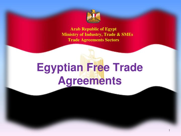 arab republic of egypt ministry of industry trade smes trade agreements sectors n.