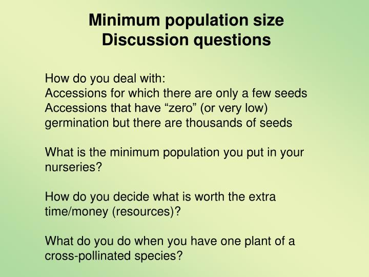 Minimum population size