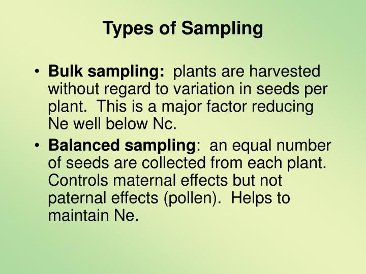 Types of Sampling