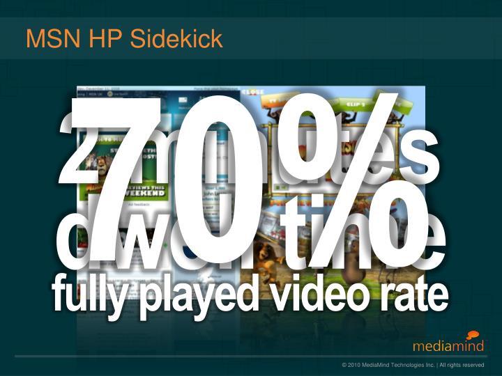 MSN HP Sidekick